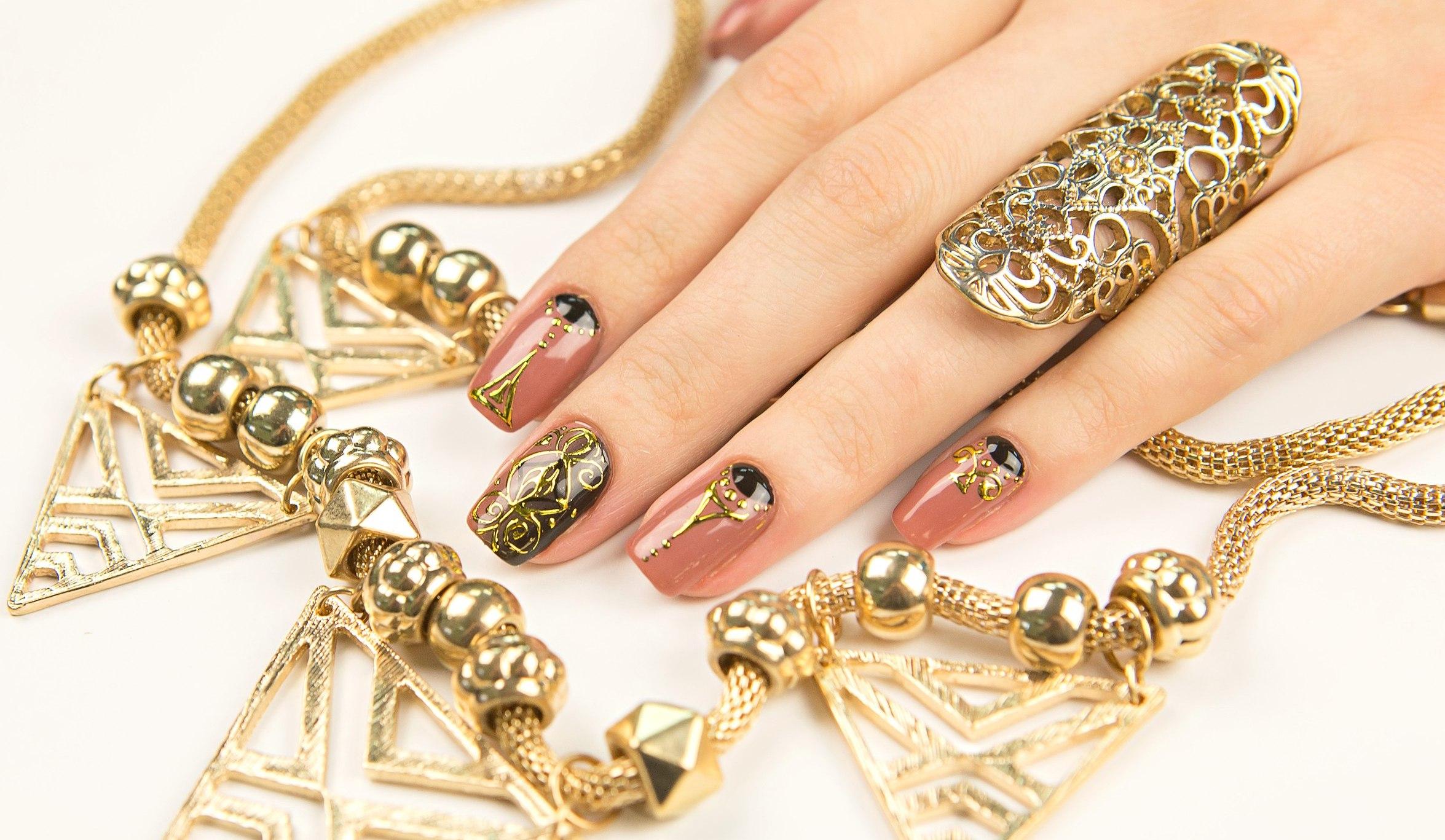 Серый дизайн ногтей гель лаками 39