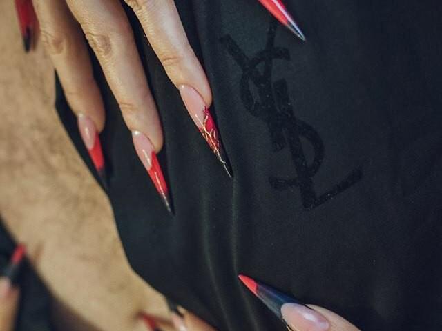 Форма ногтей стилет фото Алла Кравченко моделирование ногтей